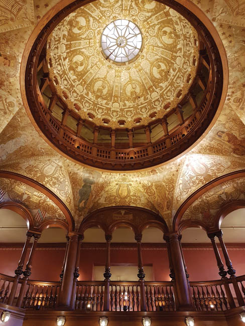 The hand-crafted dome in the foyer of the former Ponce de Leon Hotel, now Flagler College