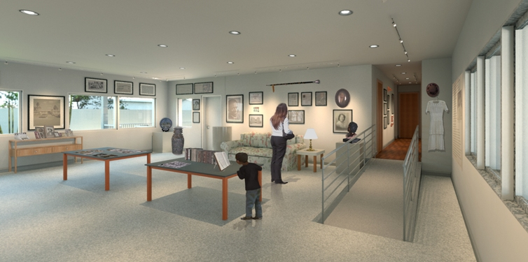 POMPANO BEACH BLANCHE ELY MUSEUM-CONCEPT DRAWING