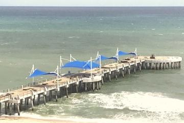Pompano Beach Pier and Oceanic restaurant progress