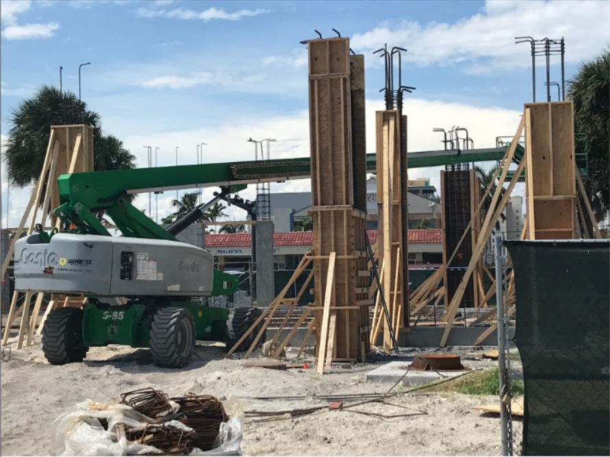 Pompano Beach Restaurant Construction: Harbor Promenade-under construction now