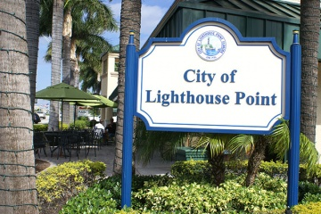 Lighthouse Point Sign