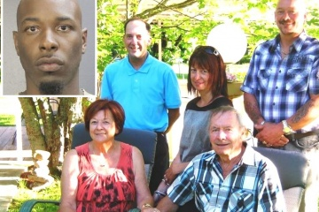 The Gagnes with their children in happier times (Courtesy/Facebook). Inset: Quinton Johnson (courtesy photo)