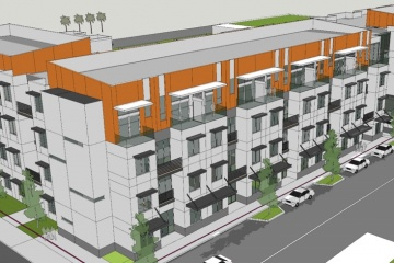 Hand-Out photo of proposed Pompano Beach Art Lofts construction project