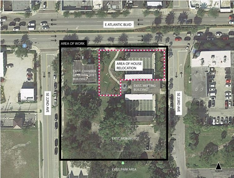POMPANO BEACH MCNAB HOUSE RELOCATION SITE: Aerial View/Courtesy hand-out photo.
