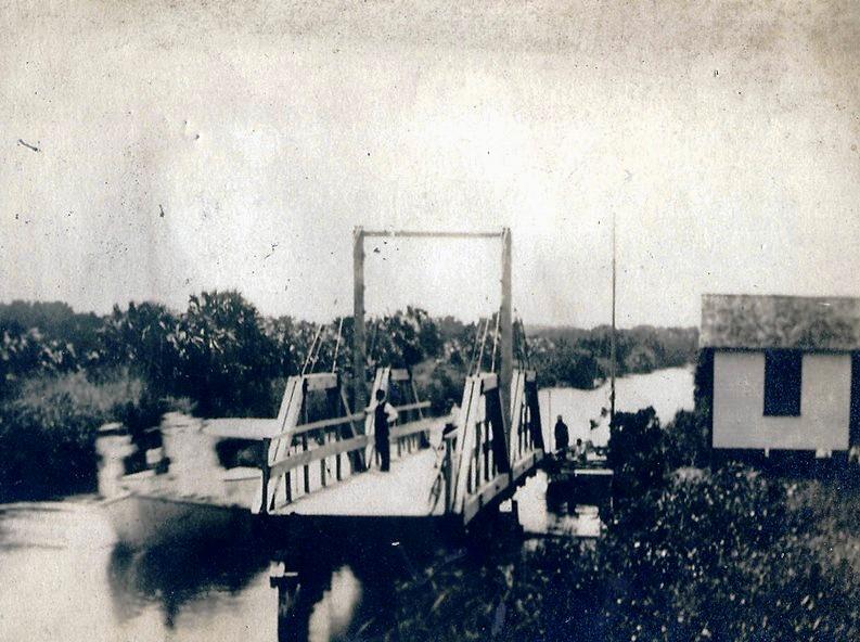 ATLANTIC BLVD. BRIDGE HISTORY- first bridge 1912. Courtesy: Pompano Beach Historical Society