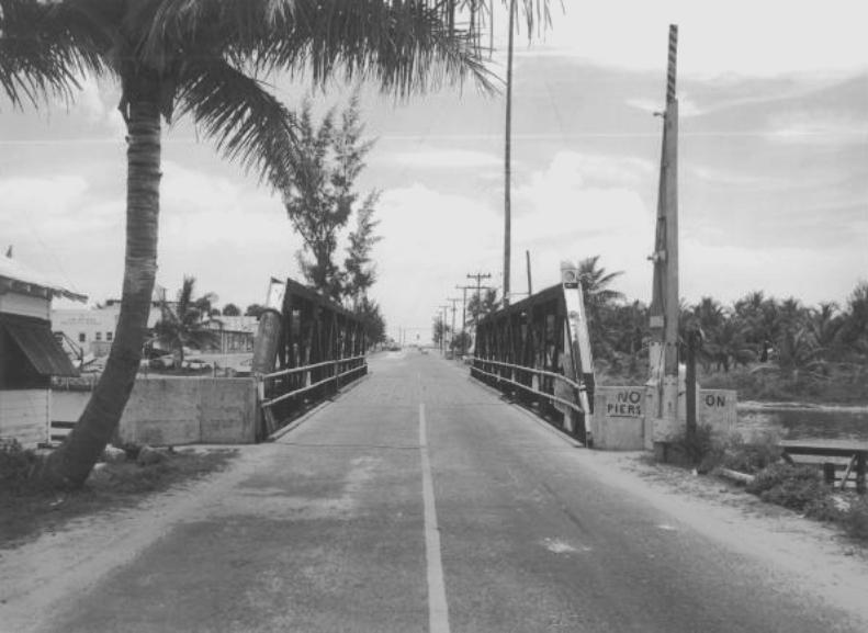 ATLANTIC BLVD. BRIDGE HISTORY- picture taken in 1953. Courtesy: Pompano Beach Historical Society