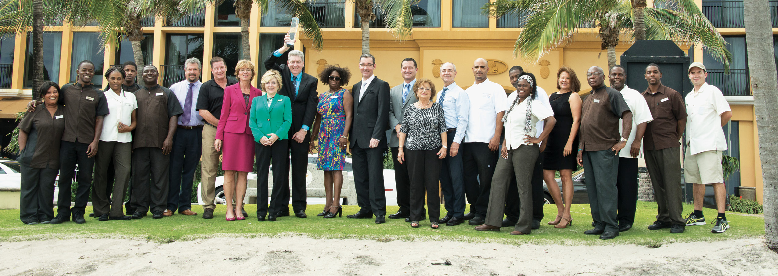 The staff at the Wyndham
