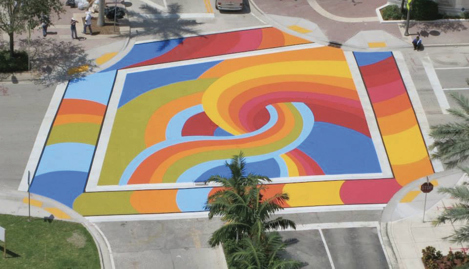 Lueza's street art at the intersection of Las Olas Blvd. and S.E. Second Ave.