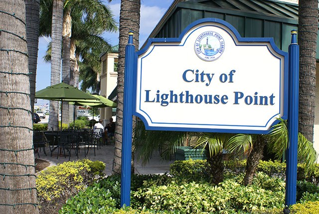 City of Lighthouse Point sign