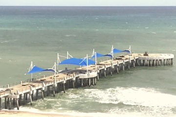 Pompano Beach Pier and Oceanic restaurant progress