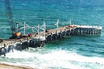 Pompano Beach Pier Construction