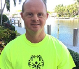 Lee Scharf, Special Olympian from Pompano Beach