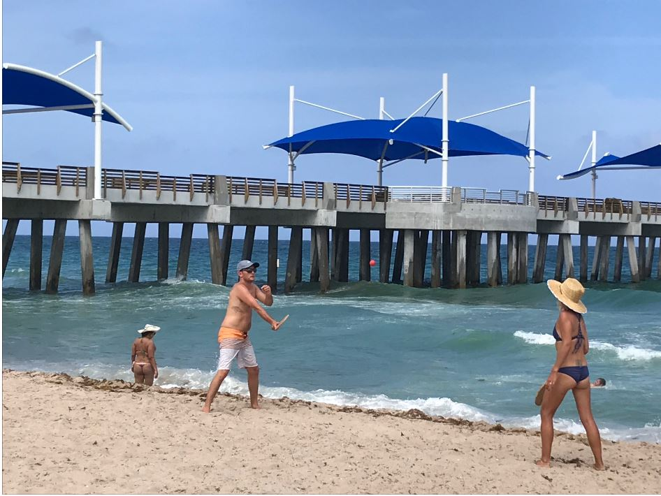 Pompano Beach Pier-Oceanic Restaurant Construction 4-19