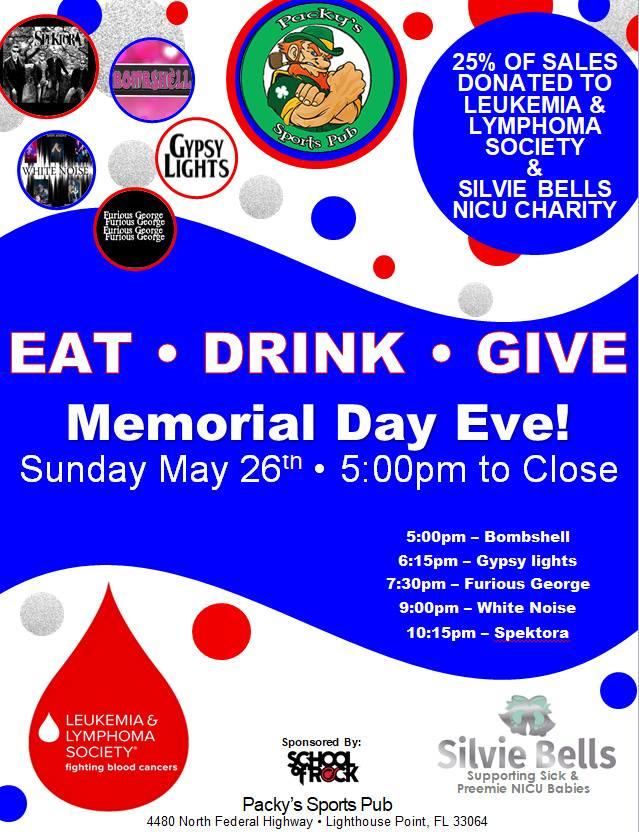 Packys Memorial Day Fundraiser