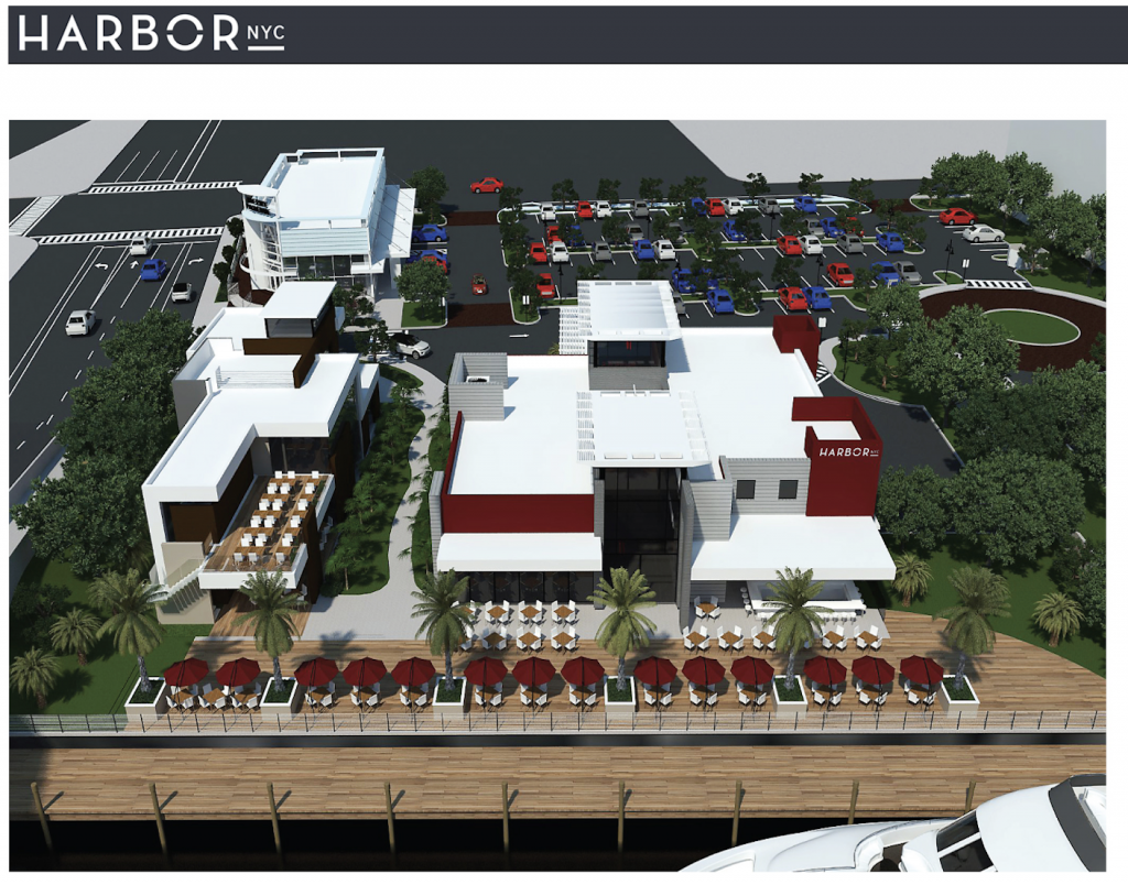 Pompano Beach Restaurant Construction: Harbor Promenade-Courtesy Photo-Overhead View
