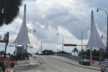 Atlantic Blvd. Bridge sails in Pompano Beach