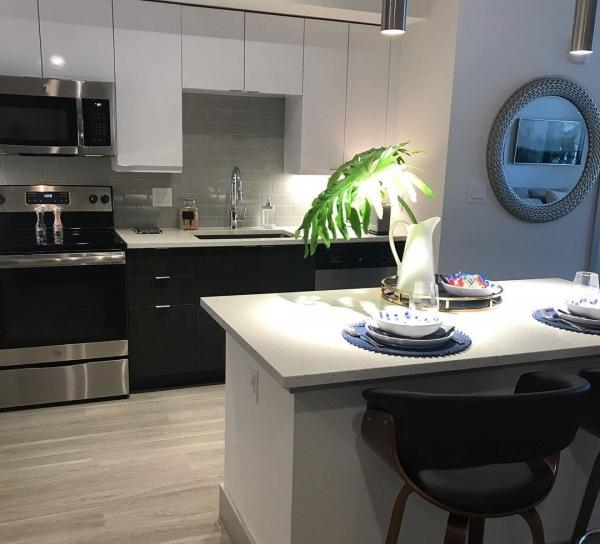 Deerfield Beach Indigo Station sample kitchen apartment construction- courtesy photo
