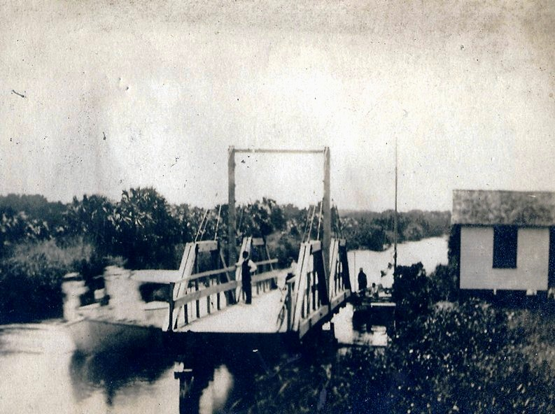 ATLANTIC BLVD. BRIDGE HISTORY- first bridge 1912. Courtesy: Pompano Beach Historical Society