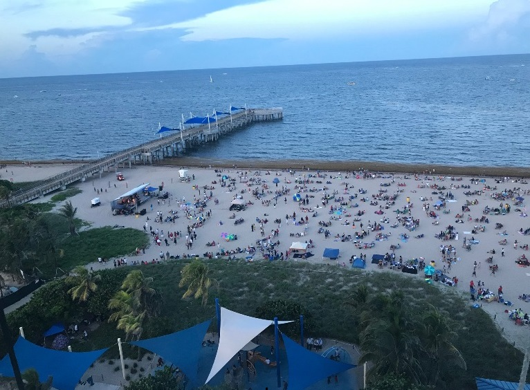 Early Evening before the Pompano Beach Fireworks Display