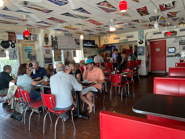 The inside of Nelson's Diner in Pompano Beach.