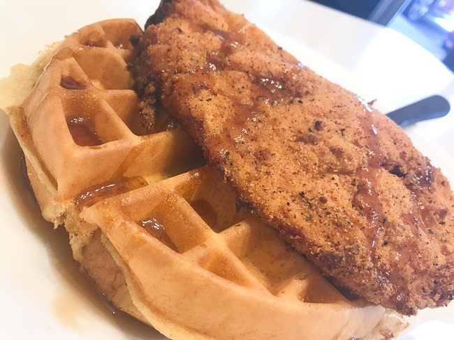 Chicken and waffles at Lester's Diner in Pompano Beach.