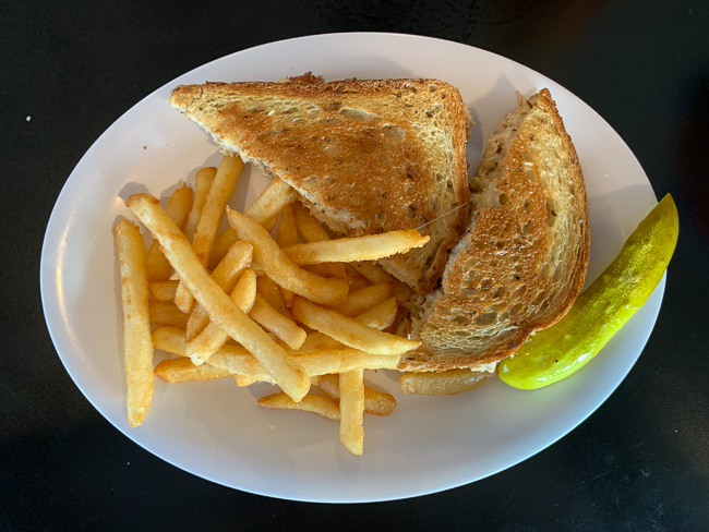 A tuna melt with fries at Nelson's Diner in Pompano Beach.