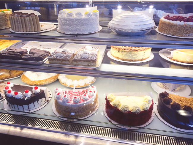 The bakery case at Lester's Diner in Pompano Beach.