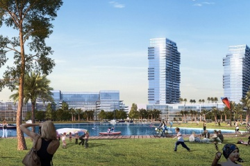 POMPANO BEACH ISLE-CASINO REDEVELOPMENT-CRYSTAL LAKE AND TALL OFFICE TOWERS