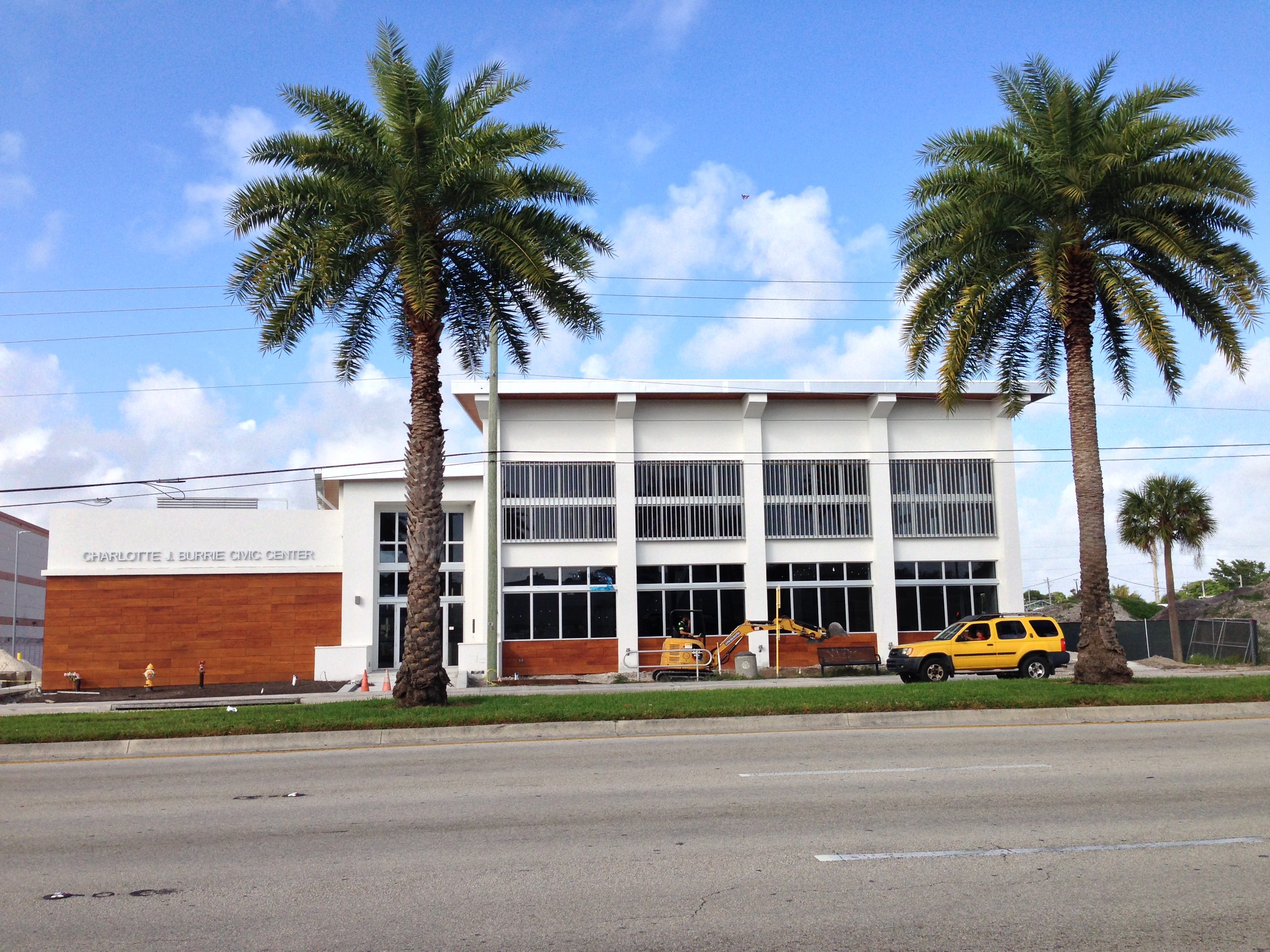 The Charlotte Burrie Civic Center main building In Pompano Beach