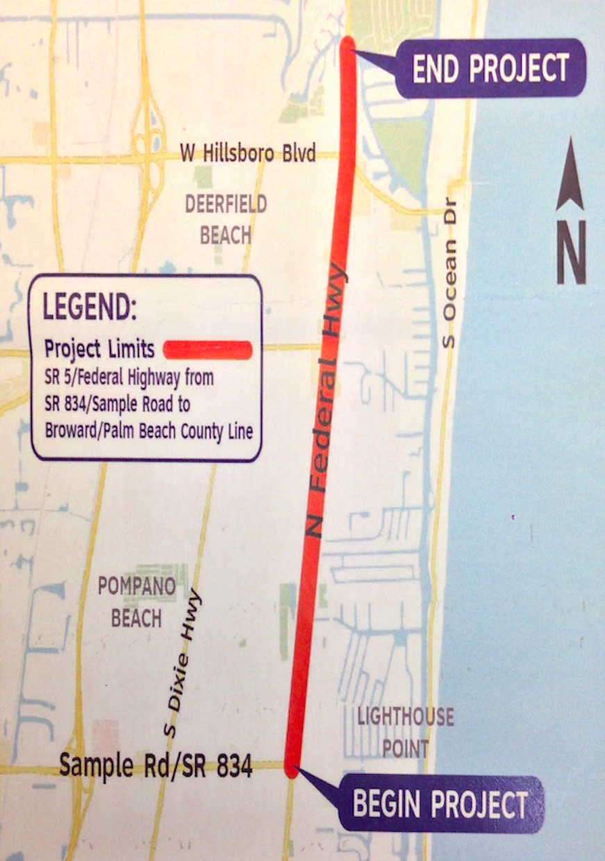 Lane Closures Coming to Federal Highway From Pompano Beach to Deerfield Beach