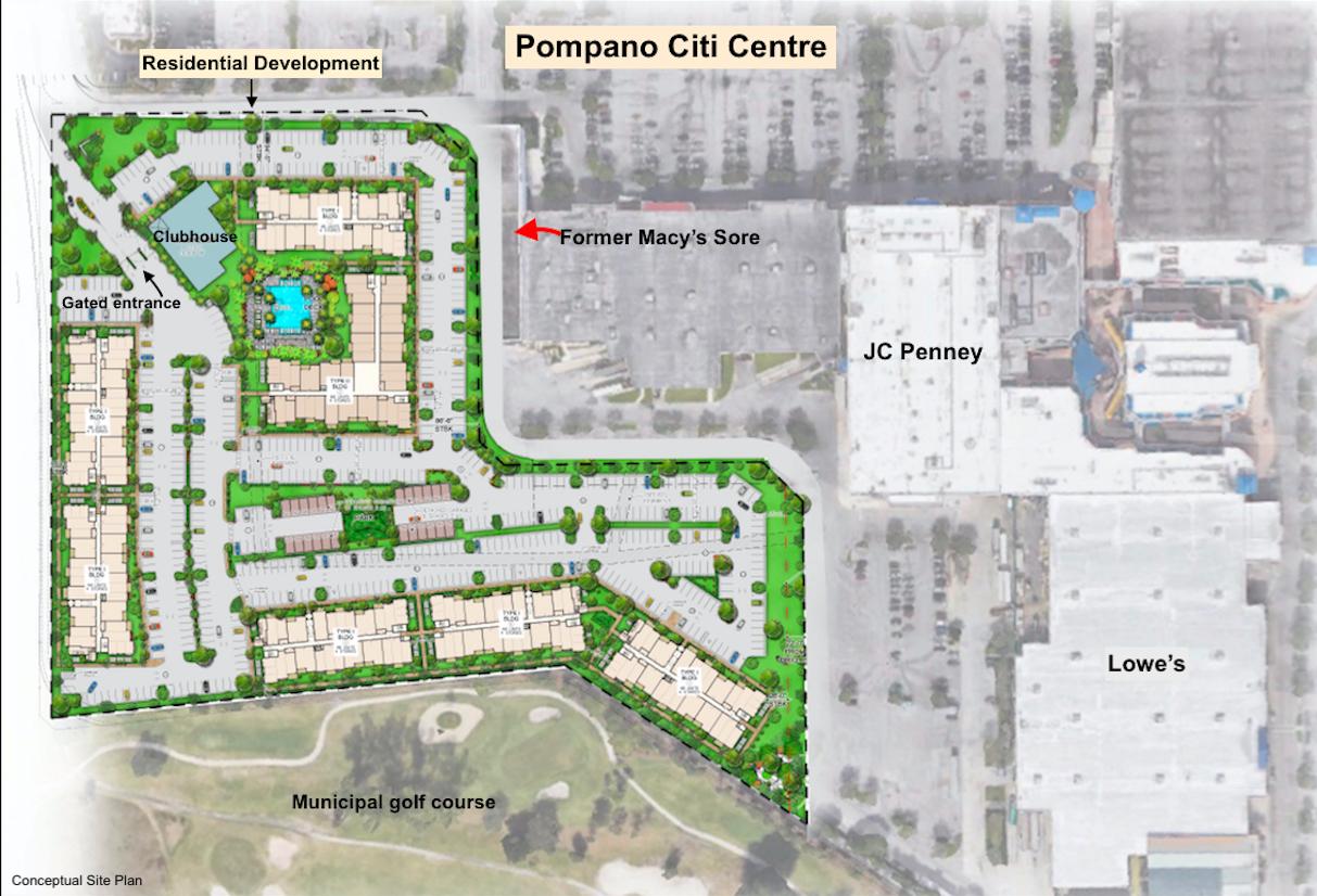 Pompano Citi Centre Residential Development Site Plan