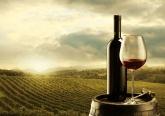 Red Wine at Vineyard